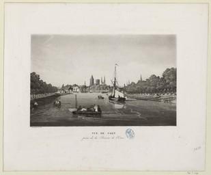 Vue de Caen prise de la Rivière de l'Orne | Garneray, Louis (1783-1857)