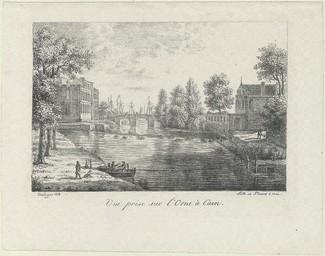 Vue prise sur l'Orne à Caen | Picard, Jean-François (1778-1837)