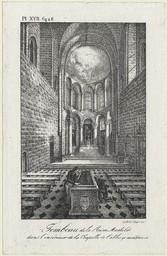 Tombeau de la Reine Mathilde dans l'intérieur de la Chapelle de l'abbaye aux Dames | Engelmann, Godefroy (1788-1839)
