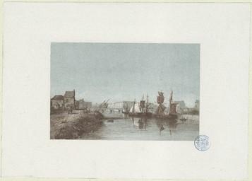 [Caen, vue de l'Orne et du port] | Bazin, A. (18..?-18..?)