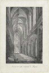 Intérieur de l'église cathédrale de Bayeux | Engelmann, Godefroy (1788-1839)