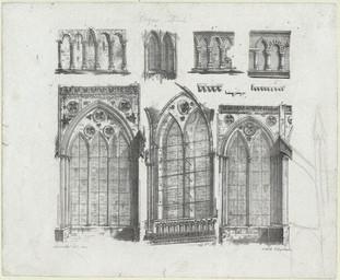 [Dix détails architecturaux de la cathédrale de Bayeux] | Engelmann, Godefroy (1788-1839)