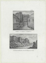Porte d'Alençon à Domfront. Coupe du rempart de Domfront, au Nord | Dulomboy (18..-18.. ; lithographe)