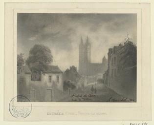 Entrée de Caen, route de Villers | Lenourrichel, Constant-Edouard (1803-1869)