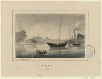 Vue du port de Caen | Lenourrichel, Constant-Edouard (1803-1869)