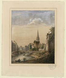 [Vue de la Tour Le Roy et de l'église St Pierre] |