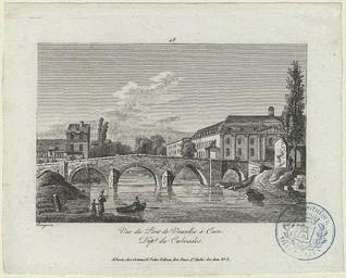 Vue du pont de Vaucelles à Caen Dept du Calvados | Baugean, Jean-Jérôme (1764-1819)