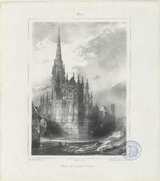 Caen, chevet de l'église St Pierre | Mansson, Théodore-Henri (1811-1850)