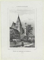 Eglise et cimetière de Vaucelles | Benard (17..-18.. ; lithographe)