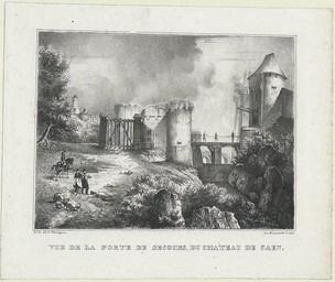 Vue de la Porte de Secours, du Château de Caen |