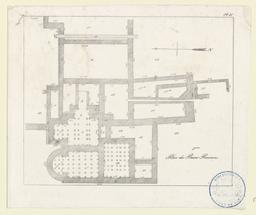 2ème plan des bains romains [trouvés à Lillebonne] | Hardel, Aimable-Augustin (1802-1864)
