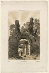 Arrondissement de Falaise, ruines du château Gannes | Thorigny, Félix (1823-1870)