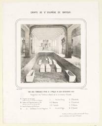 Crypte de St Exupère de Bayeux : vue des tombeaux, prise à l'époque de leur découverte (1853) | Bouet, Georges Adelmard (1817-1890)