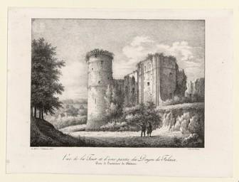 Vue de la Tour et d'une partie du Donjon de Falaise : prise de l'intérieur du Château | Oilliamson, Albert d' (1788-1865)