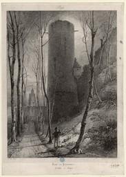 Tour du prisonnier. Château de Gisors | Engelmann, Godefroy (1788-1839)