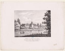 Château de Saint Germain Langot : appartenant au Marquis Albert d'Oilliamson : commune de Saint Germain Langot : arrondissement de Falaise  