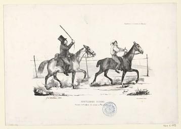 Gentlemen riders : souvenirs de l'enfance des courses en Normandie | Hardel, Aimable-Augustin (1802-1864)