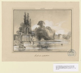 Caen. École de natation | Lenourrichel, Constant-Edouard (1803-1869)