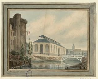 [Nouvelle poissonnerie à Caen] | Bouet, Georges Adelmard (1817-1890)