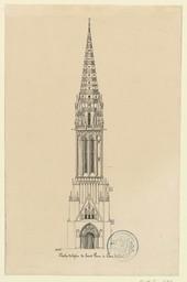 Clocher de l'église de Saint Pierre à Caen | Samson, G. (17..-18..)