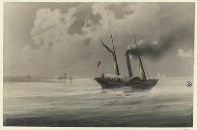 Embouchure de la rivière d'Orne | Lenourrichel, Constant-Edouard (1803-1869)