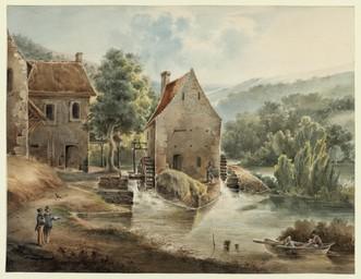 [Vue du moulin de Courgain à May-sur-Orne] |