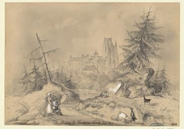 Château de Fontaine-Henry près Caen | Lenourrichel, Constant-Edouard (1803-1869)