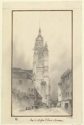 Vue de l'Eglise St Pierre à Coutances | Petit, S.L. (18..-18..)