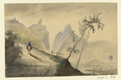 Vue de Domfront | Lenourrichel, Constant-Edouard (1803-1869)