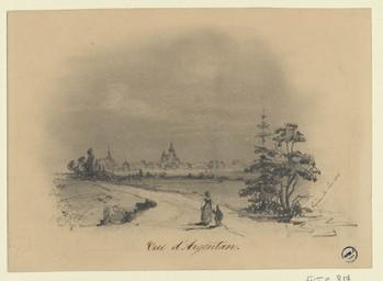 Vue d'Argentan | Lonlay, Eugène de (1815-1866)
