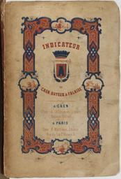 Indicateur de Caen, Bayeux et Falaise : guide des étrangers orné de lithographies |
