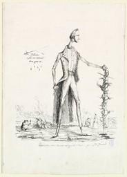 [Caricature de Mr. Massot Av[oca]t Général à Caen] [image fixe]   Gérard, Gustave (18..-18..)