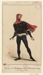 Costme [costume] de Mélingue, rôle du Mauvais Ange (Don Juan de Marana) |