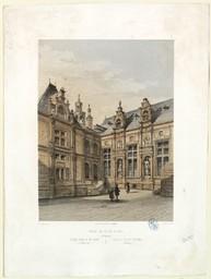 Hôtel le Valois, à Caen (France) = Hôtel Valois in Caen (Frankreich) = Valois House at Caen (France) | Stroobant, François (1819-1916)