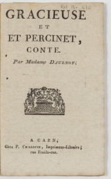 Gracieuse et Percinet, conte. | Aulnoy, Marie-Catherine Le Jumel de Barneville (1650-1705) - baronne d'