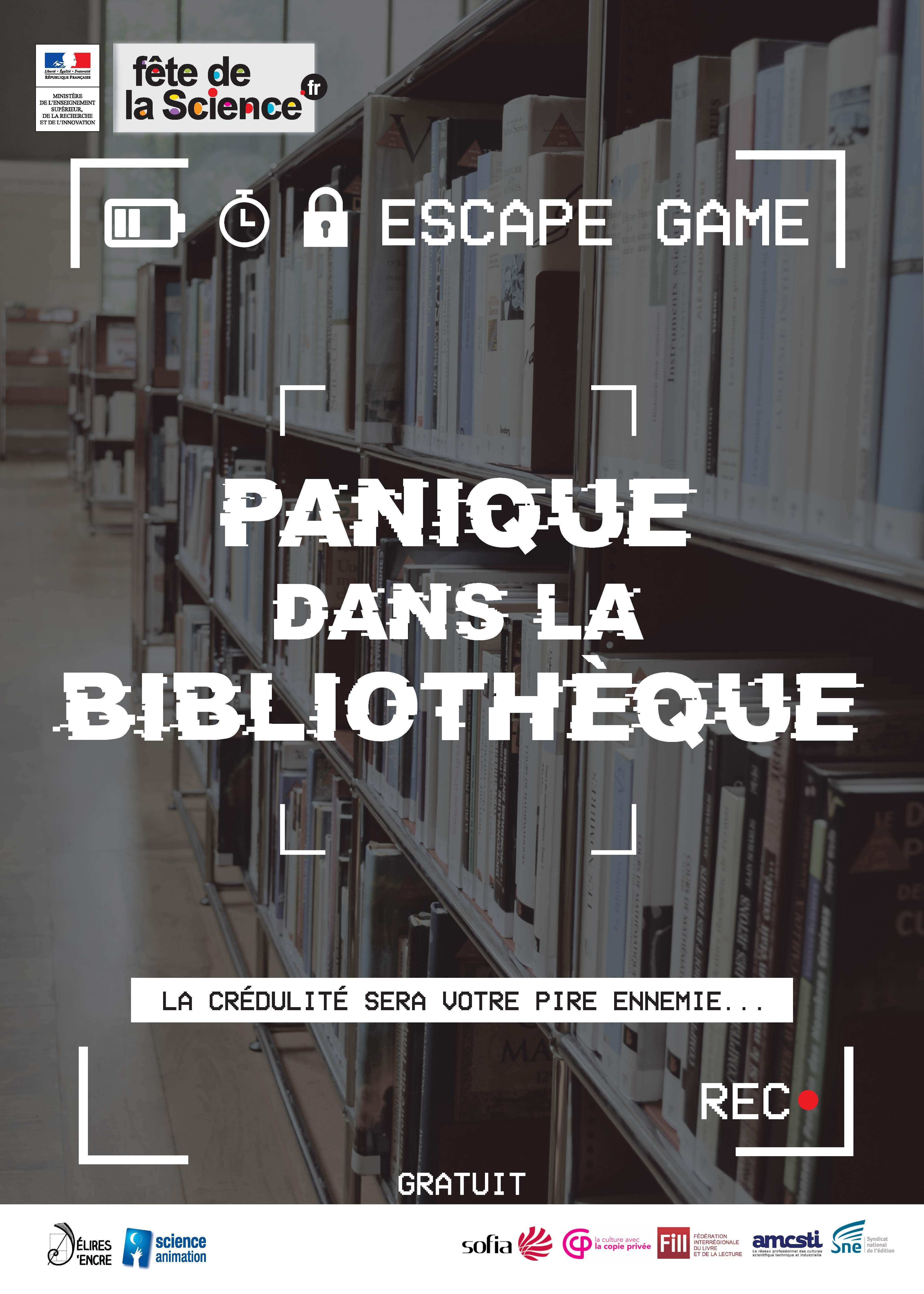 Fête de la Science 2020 / Panique dans la bibliothèque - Escape game |