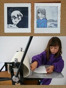 Atelier dessin manga en gravure |